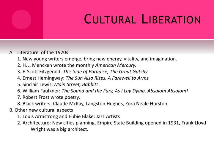 Cultural Liberation