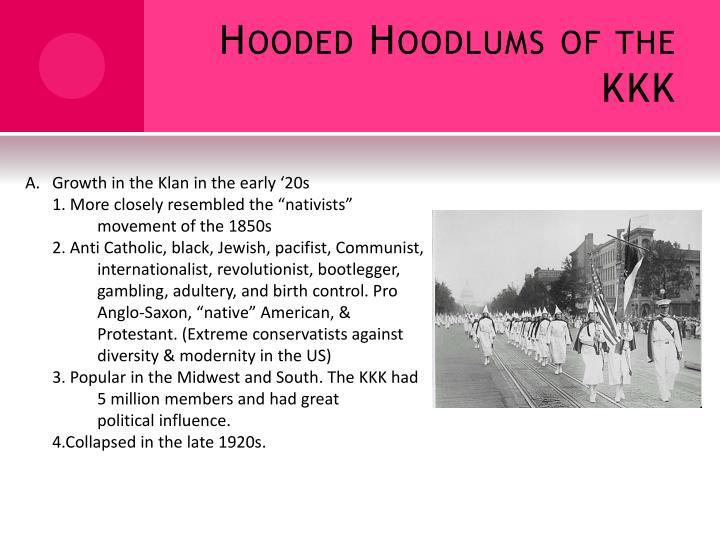Hooded Hoodlums of the KKK