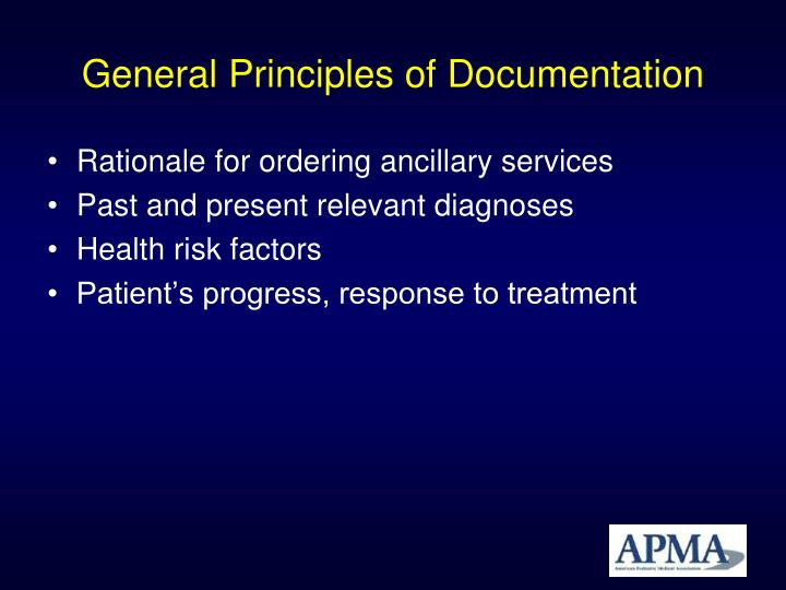 General principles of documentation1