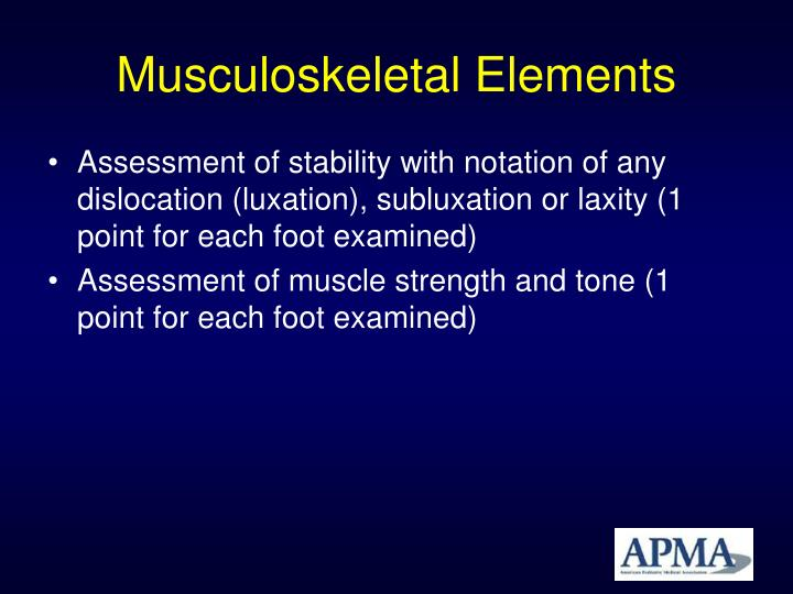 Musculoskeletal Elements