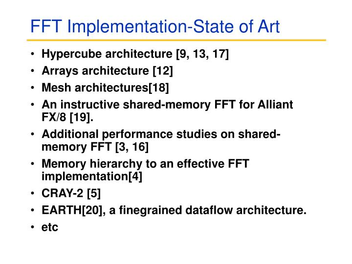 FFT Implementation-State of Art