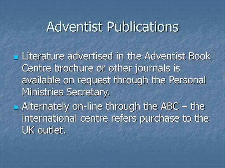 Adventist Publications