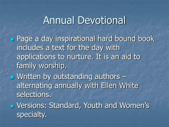 Annual Devotional