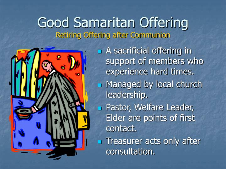 Good Samaritan Offering