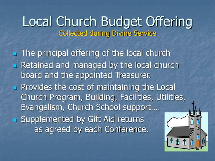 Local Church Budget Offering