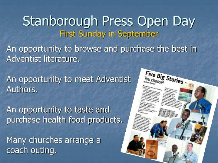 Stanborough Press Open Day