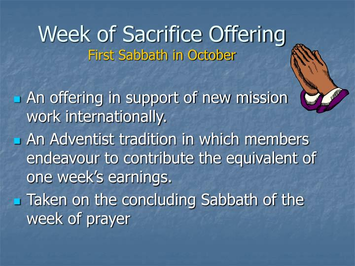 Week of Sacrifice Offering