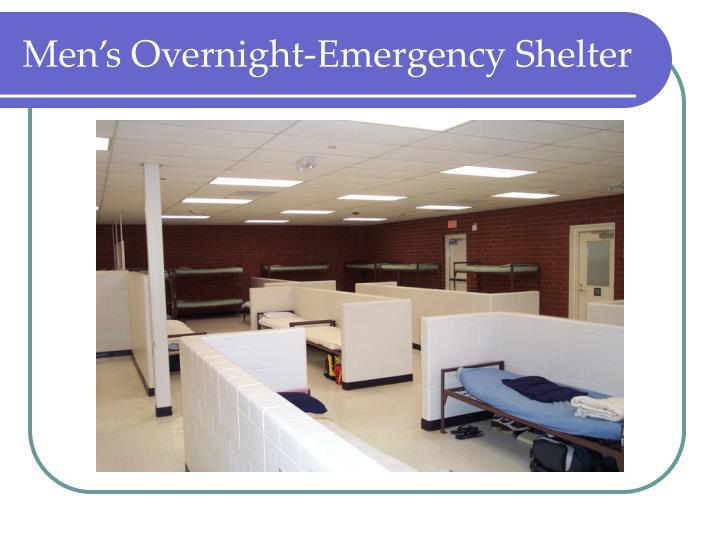 Men's Overnight-Emergency Shelter
