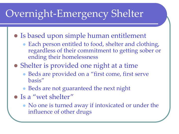 Overnight-Emergency Shelter