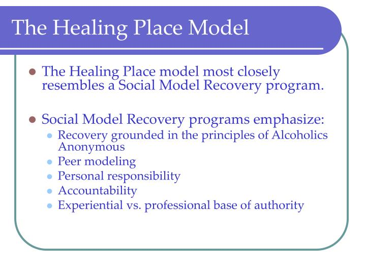 The Healing Place Model