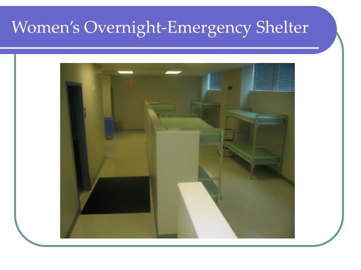 Women's Overnight-Emergency Shelter