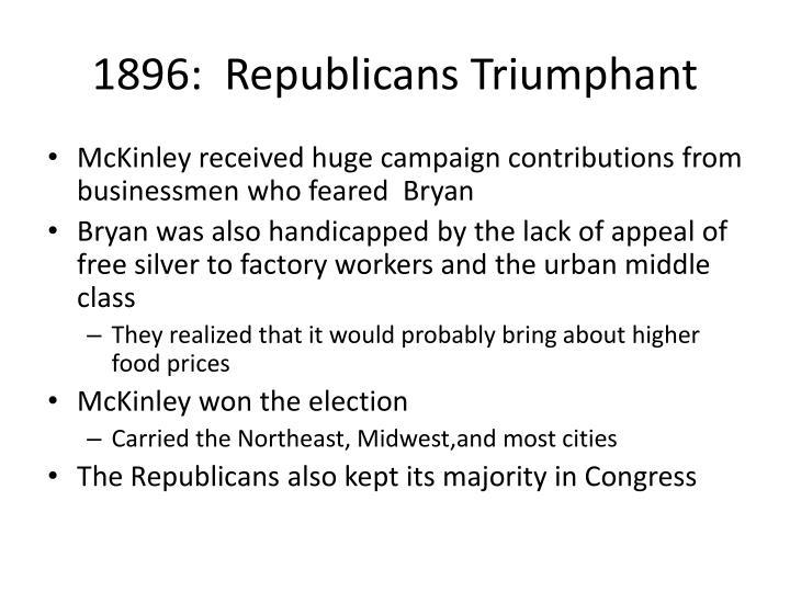1896:  Republicans Triumphant