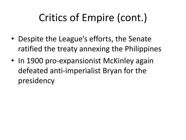 Critics of Empire (cont.)