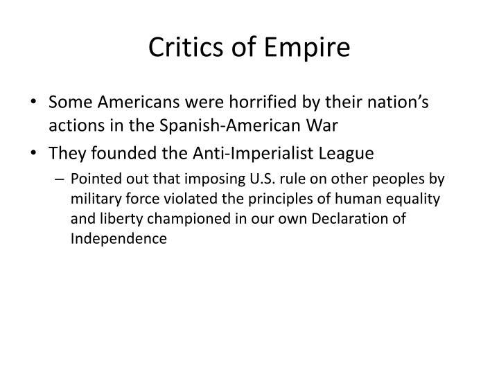 Critics of Empire