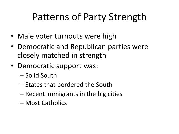 Patterns of Party Strength
