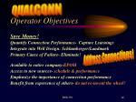 operator objectives
