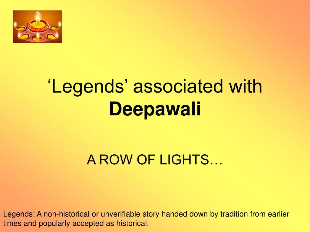 legends associated with deepawali l.