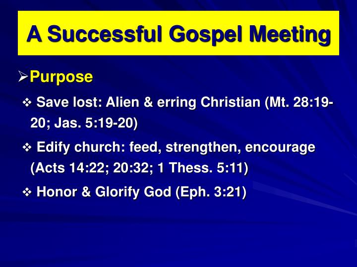 A successful gospel meeting2