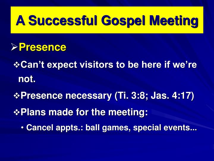 A Successful Gospel Meeting