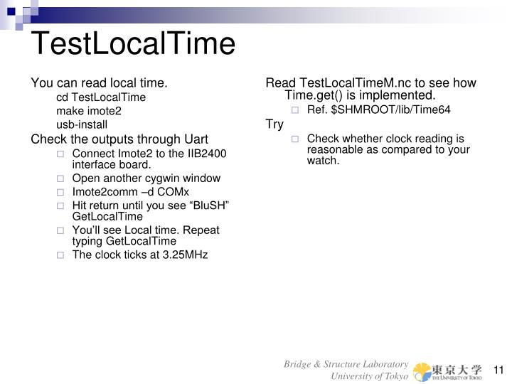 You can read local time.