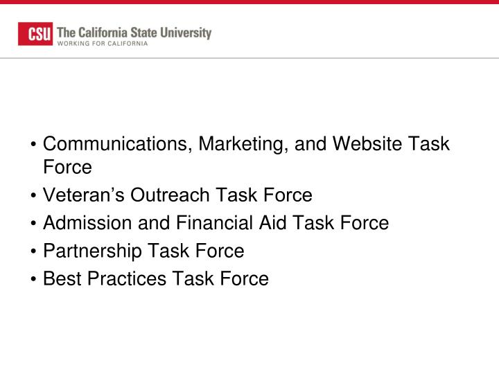 Communications, Marketing, and Website Task Force
