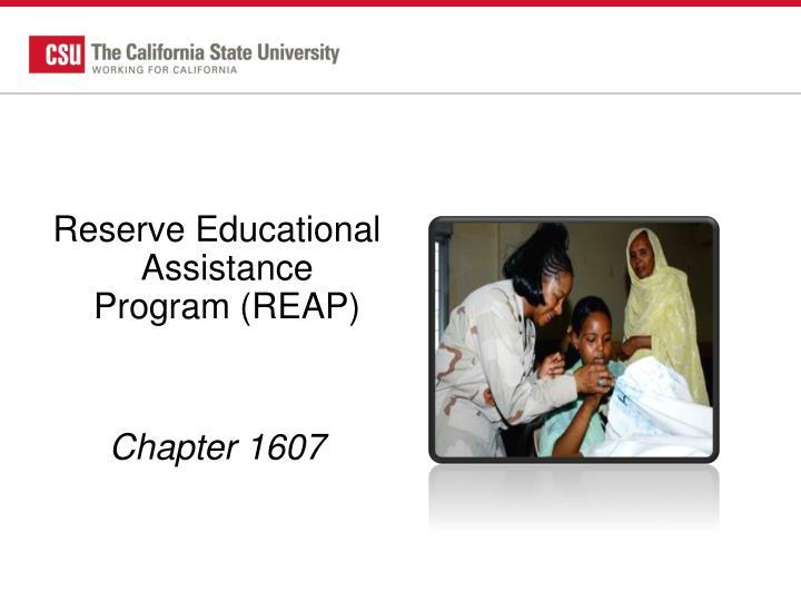 Reserve Educational Assistance Program (REAP)