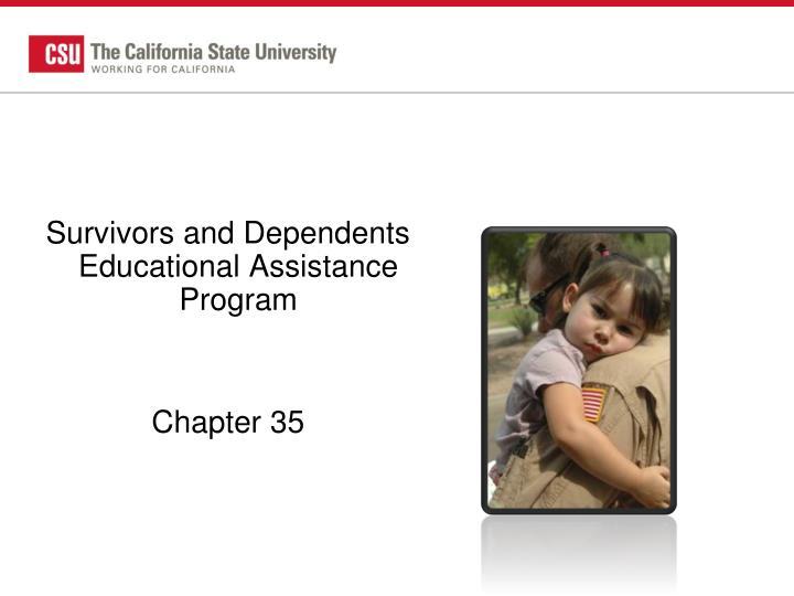 Survivors and Dependents Educational Assistance Program