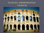 flavian amphitheater coliseum