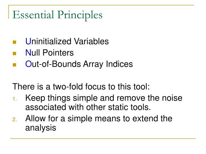 Essential principles