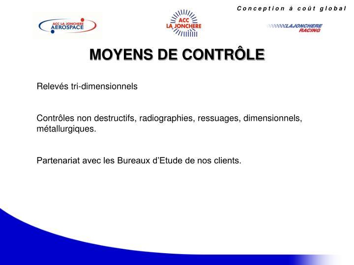 MOYENS DE CONTRÔLE
