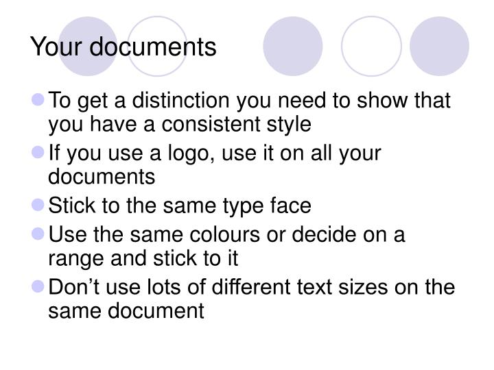 Your documents