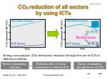co 2 reduction of all sectors by using icts