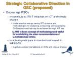 strategic collaborative direction in gsc proposed