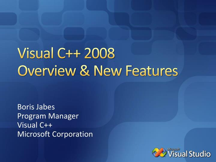 visual c 2008 overview new features n.
