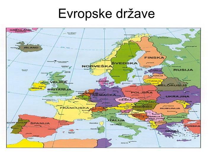 Evropske države