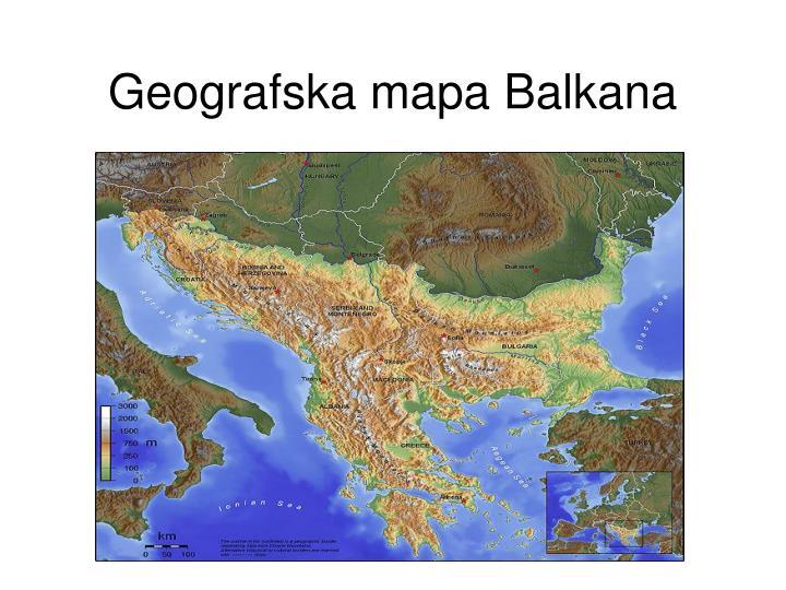 Geografska mapa Balkana