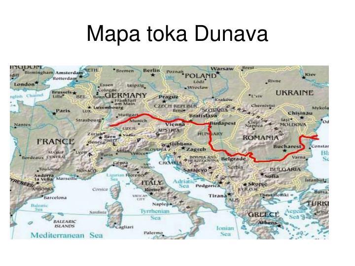 Mapa toka Dunava