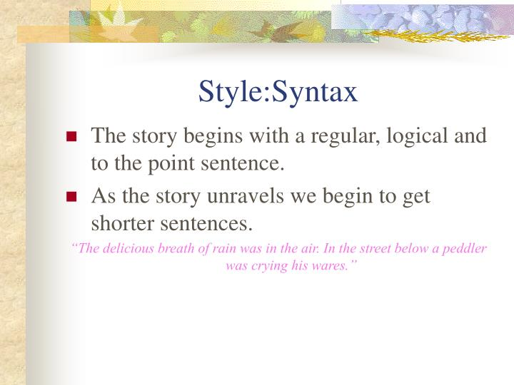 Style:Syntax