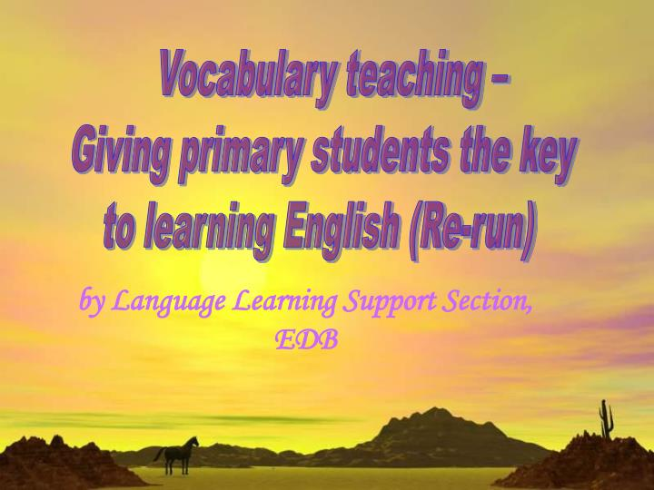by language learning support section edb n.