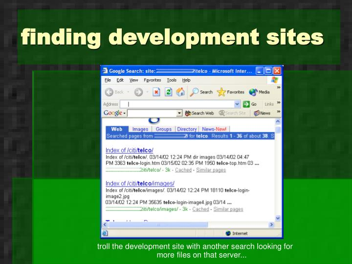 finding development sites