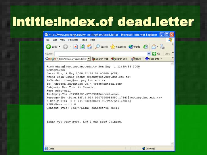 intitle:index.of dead.letter