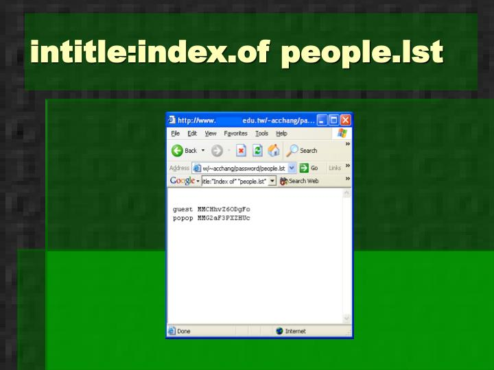 intitle:index.of people.lst