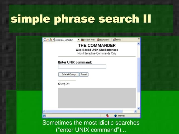 simple phrase search II