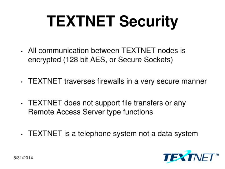 TEXTNET Security