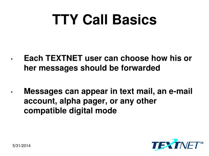 TTY Call Basics