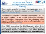 importance of pattern recognition to problem solving