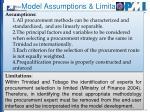 model assumptions limitation