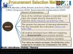 procurement selection methods