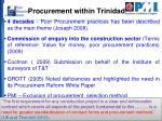 procurement within trinidad