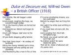 dulce et decorum est wilfred owen a british officer 1918